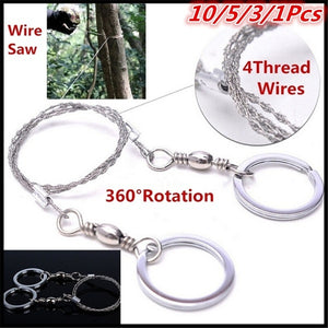 10/5/3/1Pcs Emergency Survival Gear Steel Wire Saw Camping Hiking Hunting Climbing Gear Tool