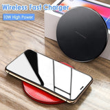 Qi Wireless Charger Pad 5W/10W Fast Charging Dock for iPhone Samsung Huawei Xiaomi