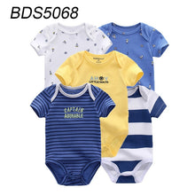 Load image into Gallery viewer, 5 Pcs Summer Cartoon Short Sleeve Cotton Soft Baby Bodysuit Baby Boy Girl Clothes