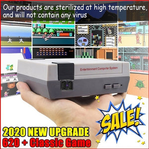 Retro 620 Games Mini Vintage Retro TV Game Console Built-in 600/620 Games Av Line and Will Not Contain Any Virus