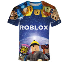 Load image into Gallery viewer, Summer fashion new children's wear Roblox 3D color printing cool digital printing Tshirt 110-160