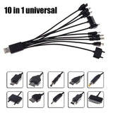 10in 1 Universal Multifounction Multi Pin Charger USB Cable For Cellphone