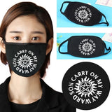 8 Styles Supernatural Printed Cotton Mask Dustproof Windproof Antivirus Face Protective Mask Half Face Mouth Muffle Supernatural Cute Cartoon Mouth Mask For Men And Women