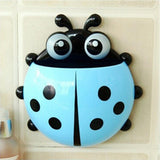 Cute Ladybug Design Popular Suction Tooth Brush Toothpaste Holder Bathroom Decor