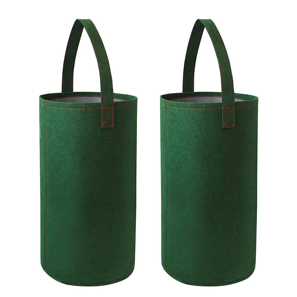 2PCS Felt Hanging Tomato Grow Bag Upside Down Tomato Planter Multi-function Strawberry Vegetable Flower Plant Grow Bags