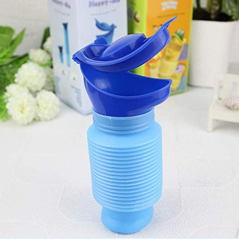 High Quality Male & Female Children adults  Emergency Portable Urinal Go out Travel Camping Car Toilet Pee Bottle 750ml Blue 1Pc