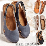 Summer Fashion Women's Leather Handmade Loafers Soft Breathable Flat Casual Sandals Women's Moccasins Plus Size 34-43