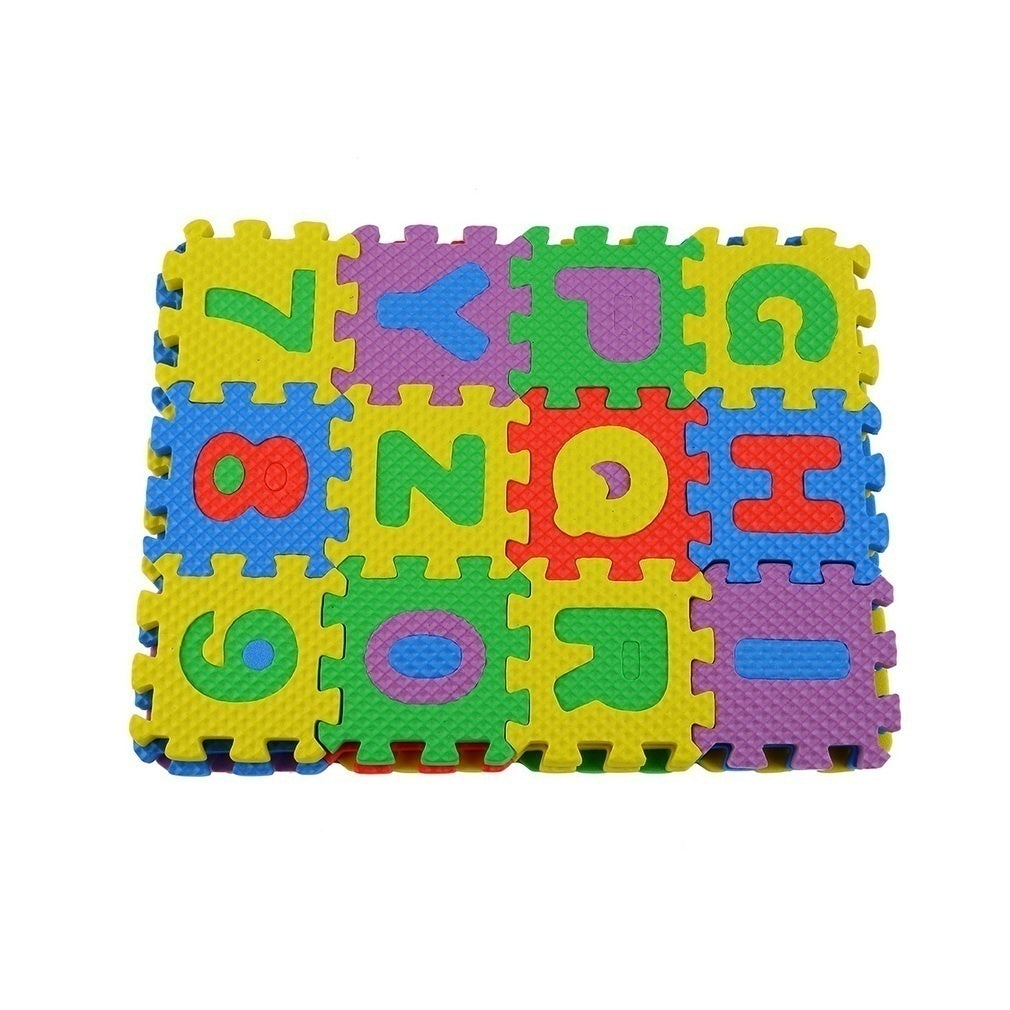 72Pcs Colorful Puzzle Kid Educational Toy A-Z Alphabet Letters Numeral Foam Mat Alphabet Number Puzzle Toy Gift