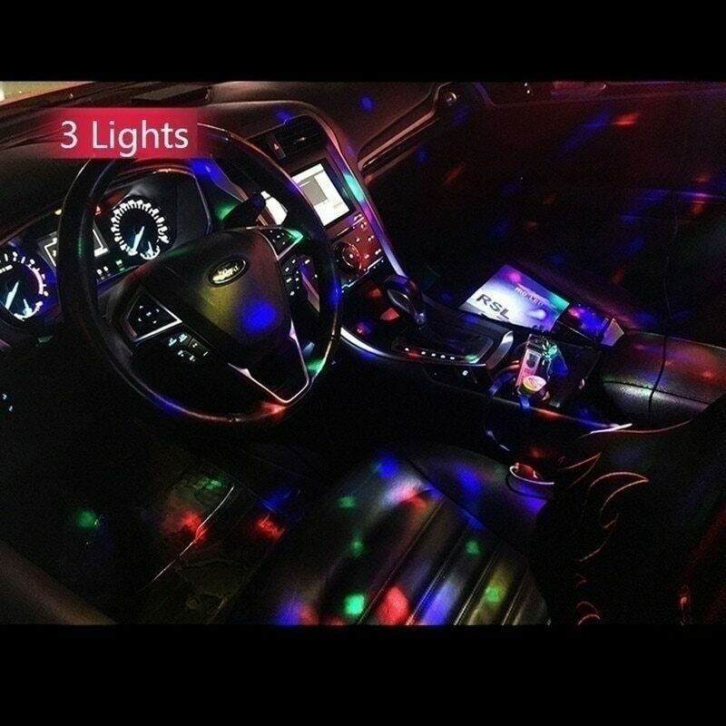 NEW Multi Color USB LED Car Interior Lighting Kit Atmosphere Light Neon Colorful Lamps Interesting Portable Accessories