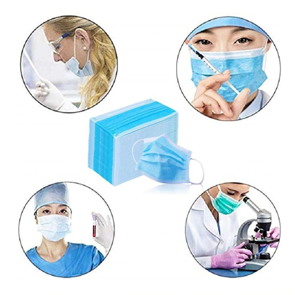 Disposable Face Masks, Disposable Surgical Face Masks, 3-Ply Face Mask (10/20/50/100pc)