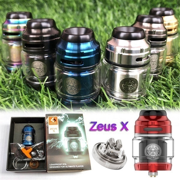 Fully Refurbished High Capacity Vapor Single/Dual Coil Stainless Steel Top Fill 25mm Tank Atomizer Zeus X RTA Mush 2ml/4.5ml Capacity