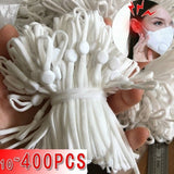 New White/Black Adjustable Elastic Band with Buckle Craft Elastic Rope Mouth Mask Sewing Accessory 10/50/200/400pcs Elastic Rope