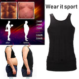 Men Body Slimming Tummy Shaper Belly Underwear shapewear Waist Girdle Shirt (S-XXL)