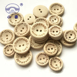 140pcs Multi-size Natural Color 2 Hole Wooden Buttons Handmade Sewing Accessories Buttons Decoration Button For Clothes+1box