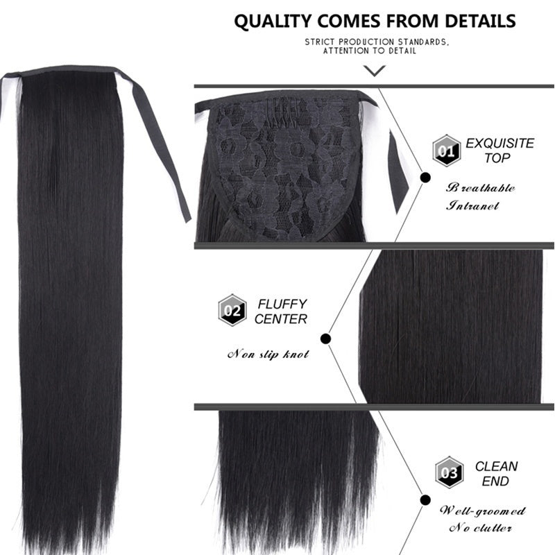 9 Colors 80 Cm Super Long Silky Straight Drawstring Ponytail Synthetic Hairpieces Hairpieces Hair Extensions for Women
