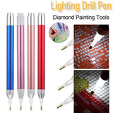 1Pc DIY Diamond Painting Tool Point Drill Pen Lighting New Diamond Pens 5D Painting Diamonds Accessories (Without Batteries)