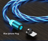 Color Streamer Magnetic Data Cable Durable USB Cable Charging Cord for IPhone/Android/Type-C 1m 360 Degree Rotation Cable