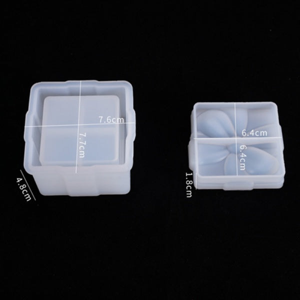 DIY Bowknot Jewelry Gift Storage Square Epoxy Box Mold Resin Mould Casting Craft  Tools