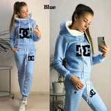 2020 Women's Fashion Sports Suit Fleece Hoodies and Pants Sets Jogging Suit