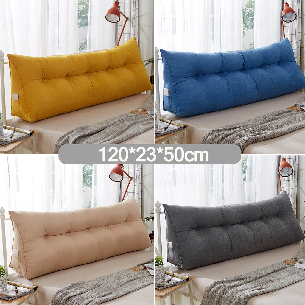 100*23*50cm /120*23*50cm  Sofa Bed Large Filled Triangular Wedge Cushion Bed Backrest Positioning Support Pillow Reading Pillow Office Lumbar Pad with Removable Cover