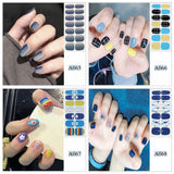 1 Piece Gules and Blue Nail Polish Films Solid Color Waterproof Long-lasting Nail Wraps Sticker Stickers Ongle Adesivos Unhas Breathable Nail Strips Nail Decals Sticker