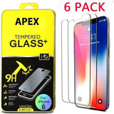 6Pcs/Pack All-glass New 9D Tempered Glass for iPhone 12 Mini 12 Pro Max XR XS X 11 Pro Max SE 2020 Screen Protector for iPhone 12 7 8 6s Plus XR Protective Glass