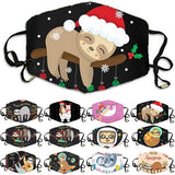 Funny Print Christmas Face Cover DustProof Windproof Cover Washable Unisex Mouth Cover