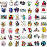 25/50/100PCS Among Us Hot Game Stickers For Skateboard Fridge Guitar Laptop Motorcycle Travel Luggage Cartoon Stickers