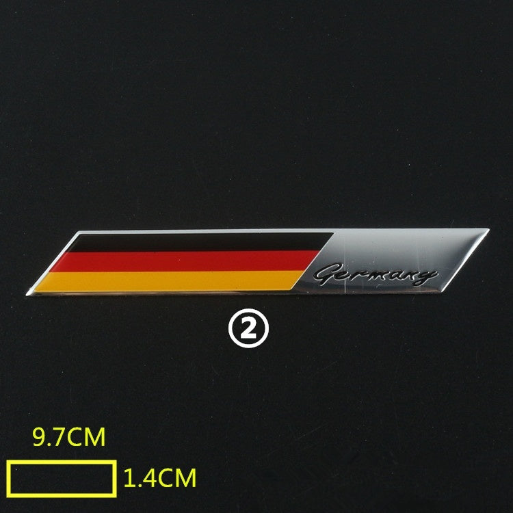Car Styling Car Body Motor sport Stickers Germany Metal  Badge Stickers Car Accessories