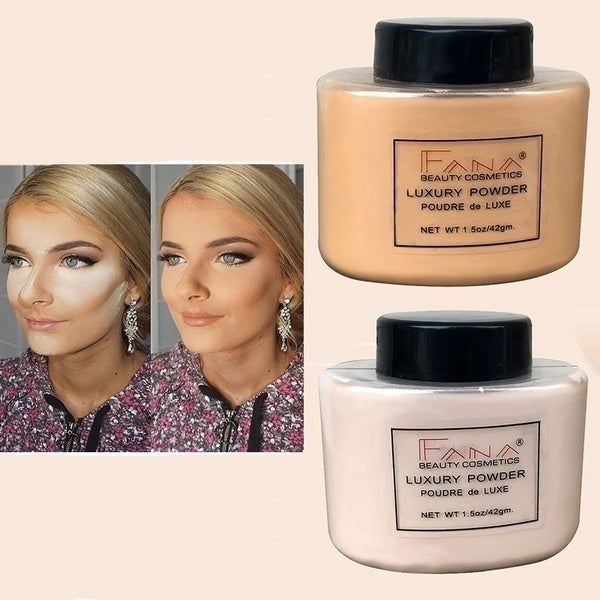 Beauty Face Powder Makeup Concealer Beauty Highlighter Mineral Powder Smooth Loose Oil Control