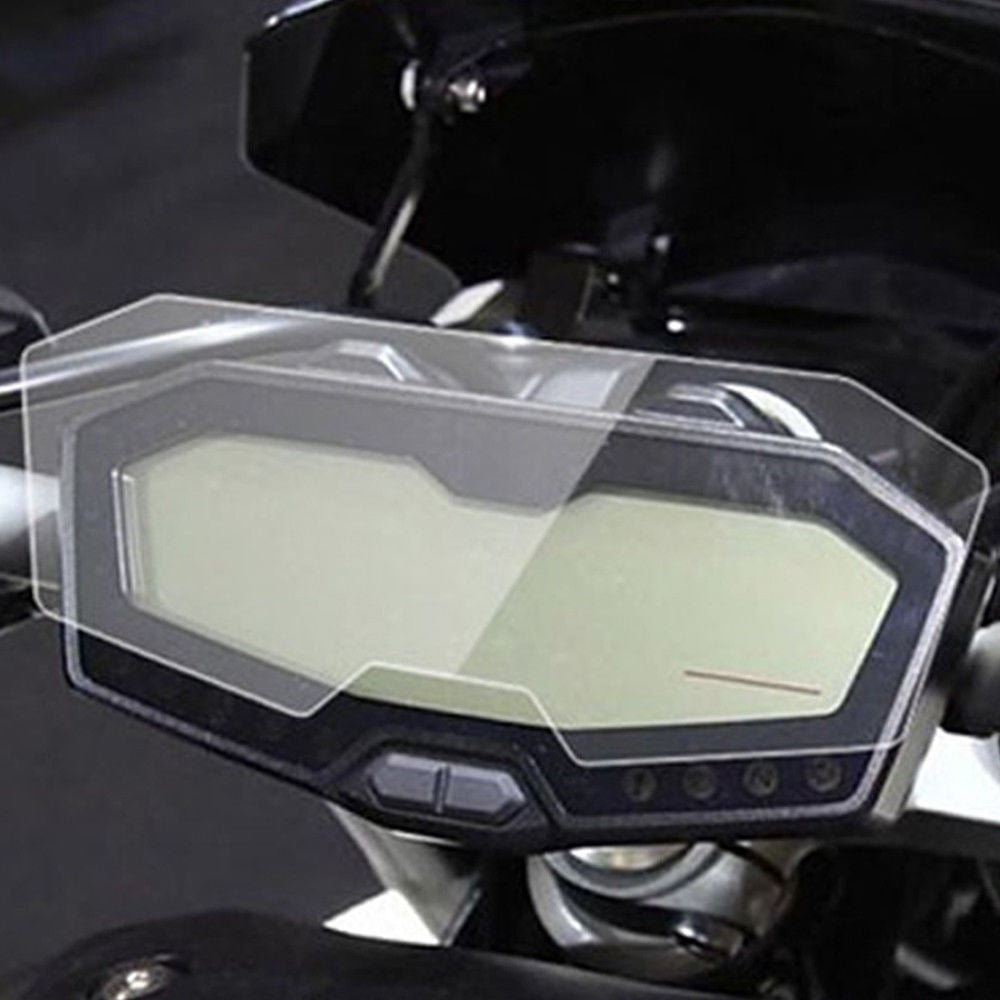2Set Motorcycle Clear Transparent Crystal TPU Cluster Scratch Protection Film Speedo Speedometers Screen Protector For Yamaha FZ-07 MT-07 2014-2018