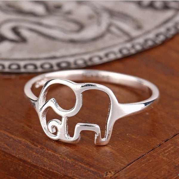 Silver Ring Jewelry Elephant Fashion Designer Rings for Women Gift Fine Jewelry