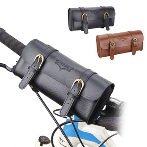 Hand Stitched Bicycle Saddle Bag Retro Pannier Leather Seat Front Handlebar New