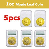 SPECIAL PRICE !  5PCS   2015 Canada Coin 1 oz Fine Gold Coin Uncirculated Coins