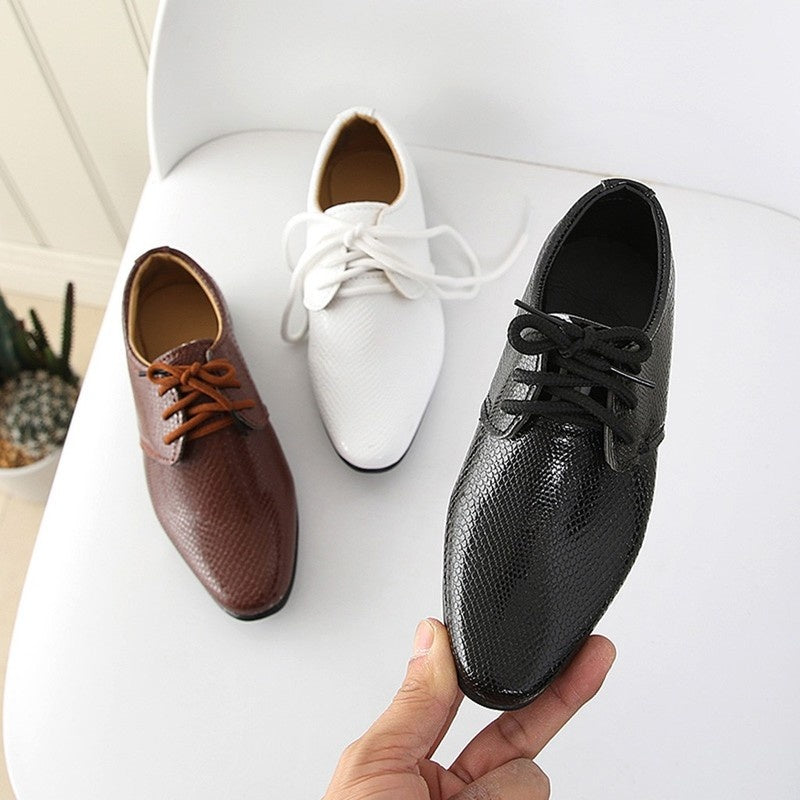 2019 New Kids Leather  Shoes For Boys Girls British Style Children's Casual Sneakers PU Leather Fashion Shoes Hot