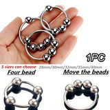 1 PC Four Beads Stainless Steel Delay Rings for Men