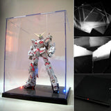 Clear Acrylic Display Box Dustproof Protection Model Show Case With LED Lights CBN