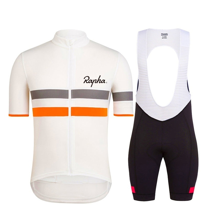 Rapha Pro Short Sleeve Cycling Jersey Mountain Bike Shorts Set Ropa Ciclismo Quick Dry Pro Cycling Wear Mens&Women Fashion Unisex Bicycle Maillot Culotte Suit