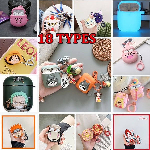 1Pcs Silicone Shock Proof Protective Cover Case Skin For Earphones
