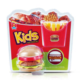 Plastic Fast Food Play set Mini Hamburg French Fries Hot Dog Ice Cream Cola Food Toy Simulation Kitchen Food Toys Gift for Kids