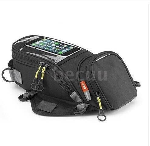Motorcycle New Fuel Bag Mobile Phone Navigation Bag Multifunctional Small Oil Reservoir Package Magnetic Fixed Straps Fixed