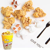10 Pcs/lot Charms Popcorn Grain Slime DIY Decoration Clay Slime Filler Miniature Supplies Kid Toy