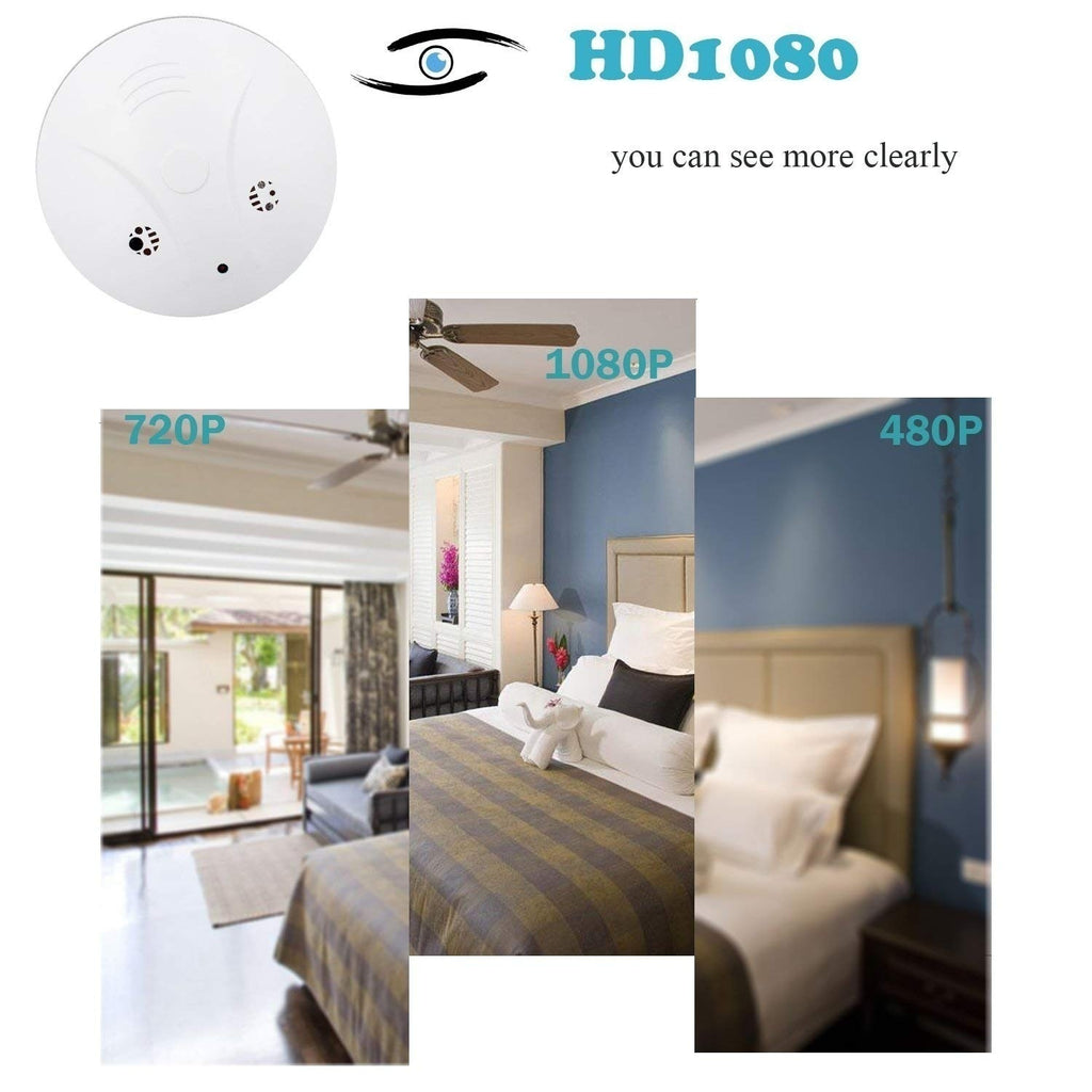 2019 Wireless Wifi Smoke Detector Hidden Spy Camera DVR Security Nanny Camcorder Motion Detection with Remote Controller(Size:No Wifi / With Wifi)