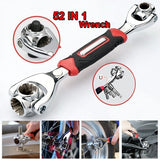 Universal Wrench 52 Tools In One Socket 360-degree Rotating Multi-function Wrench Hand Tools