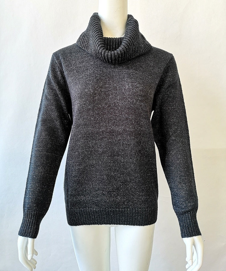 Fashion Women Long Sleeve Turtleneck Neck Sweaters Autumn Winter Soild Color Pullovers Women Knitted Pullovers