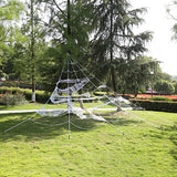 Halloween Giant Garden Spiders Web with/ 5 Ground Stakes Party Decoration 23 X 18 Ft and 90cm Spider