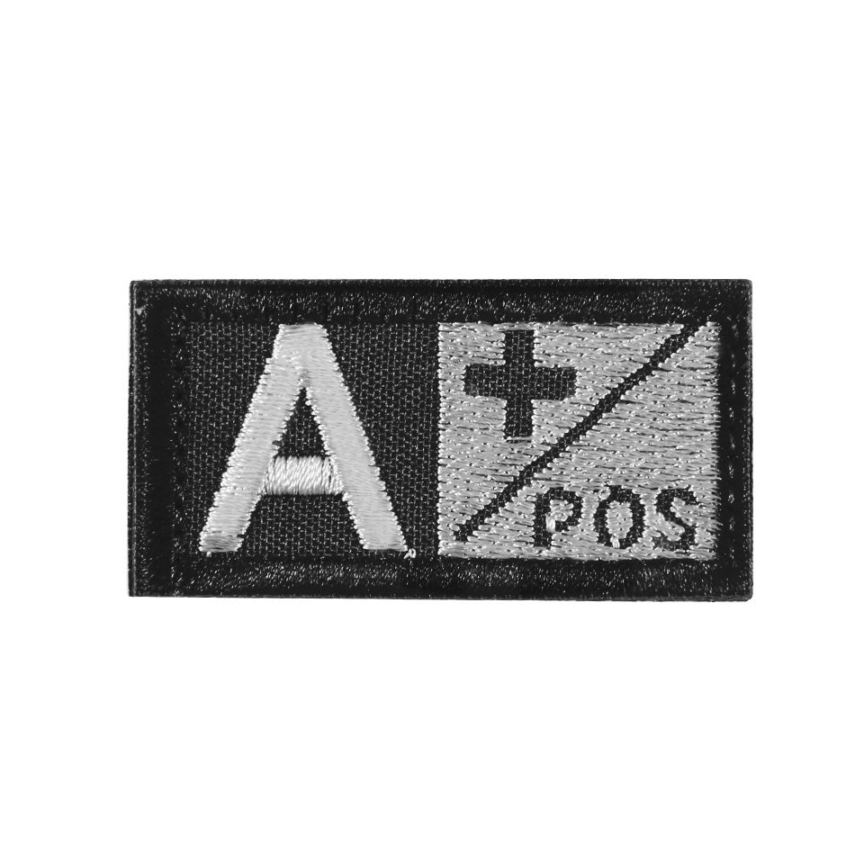 3D Embroidery Blood Group Style Flicken A B AB O Pos Tactical Morale Patches With  Hook & Loop