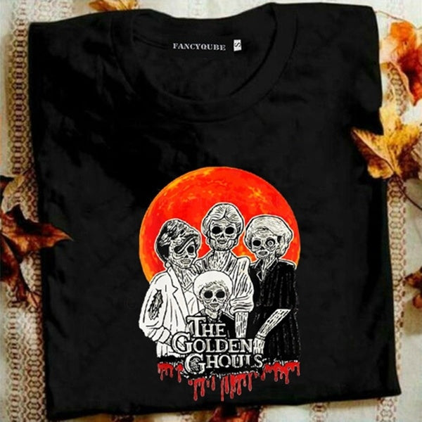2019 New Fashion Women Vintage The Golden Ghouls Halloween T Shirt, Hocus Pocus, Golden Ghouls Halloween Shirt, Golden Girls Shirt