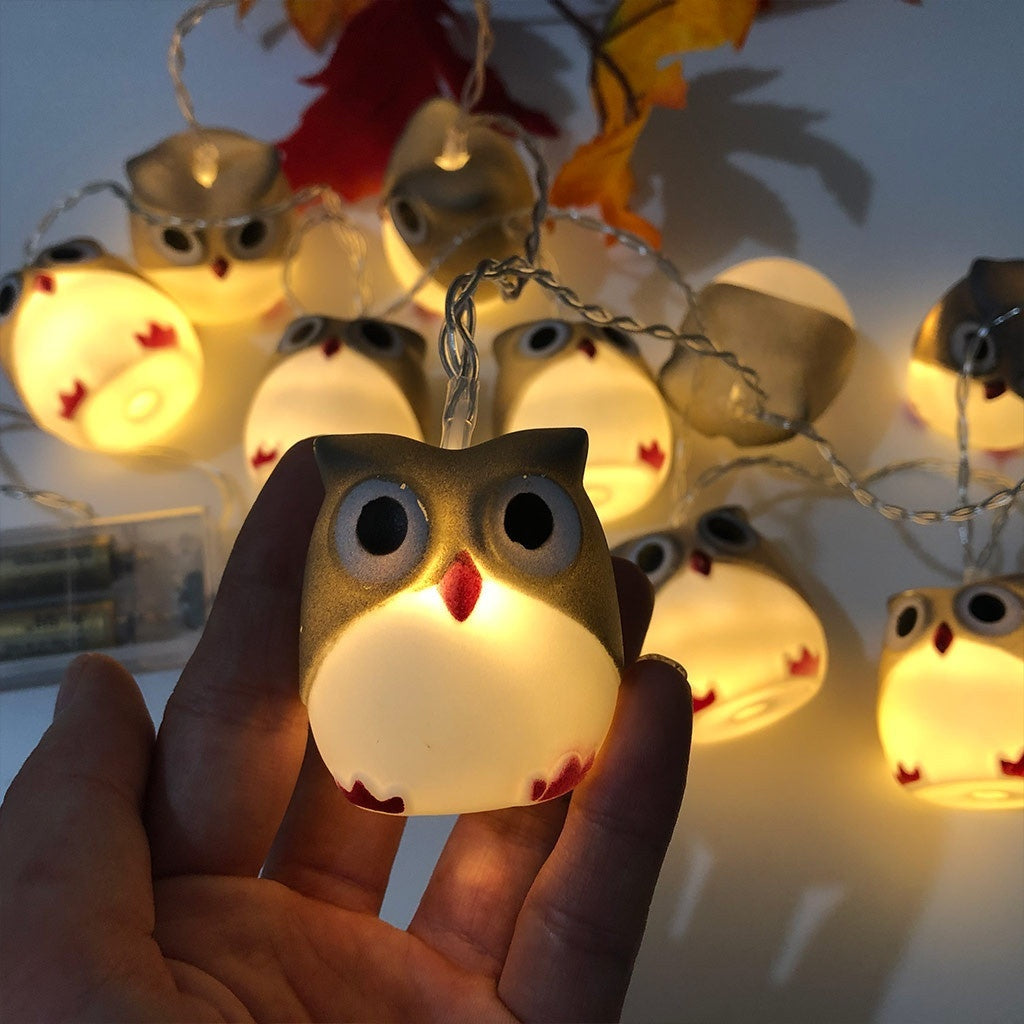 Halloween New Owl Lights String Party Garden Decoration Lights String