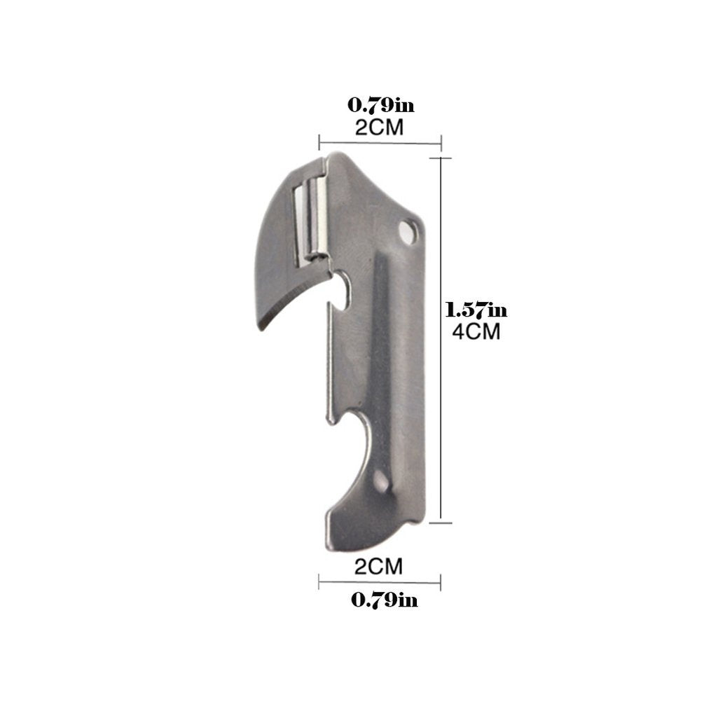 Stainless Steel Multi-function Can Opener Bottle Opener Folding Mini Opener